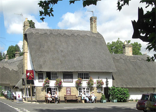 Photo of thatched pub.