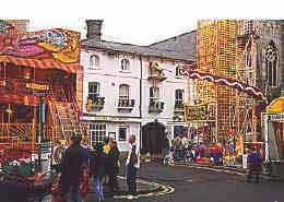 Golden Lion hotel with funfair