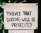 """Thieves that survive will be prosecuted"""